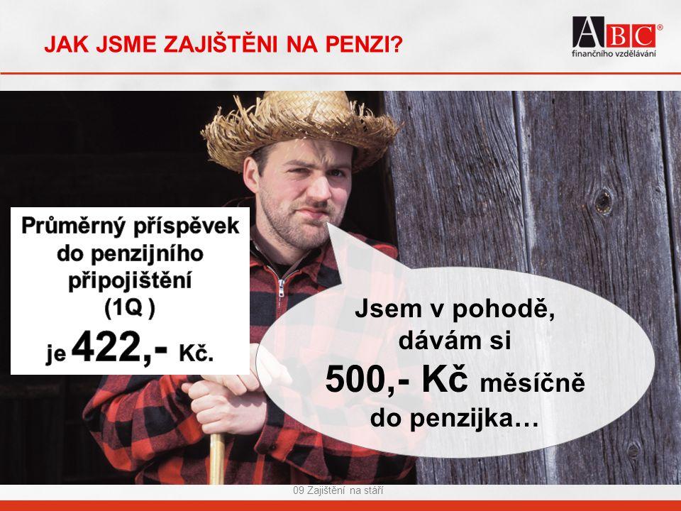 09 Zajištění na stáří JAK JSME ZAJIŠTĚNI NA PENZI.