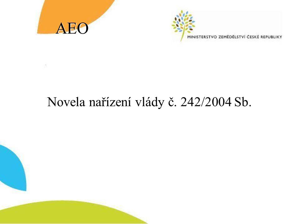 AEO Novela nařízení vlády č. 242/2004 Sb.