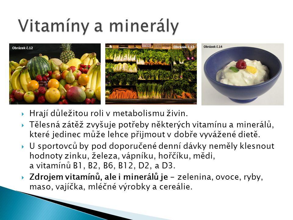  Hrají důležitou roli v metabolismu živin.