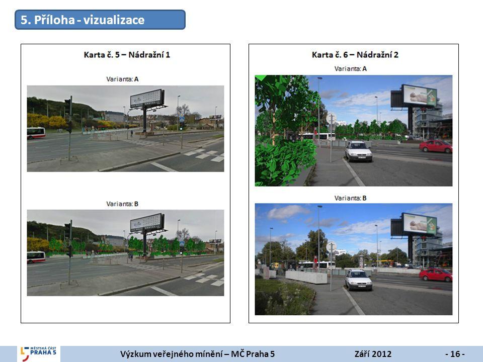 Výzkum veřejného mínění – MČ Praha 5Září 2012- 16 - 5. Příloha - vizualizace