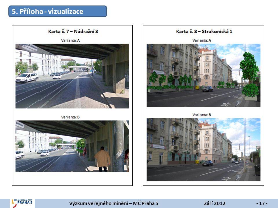 Výzkum veřejného mínění – MČ Praha 5Září 2012- 17 - 5. Příloha - vizualizace