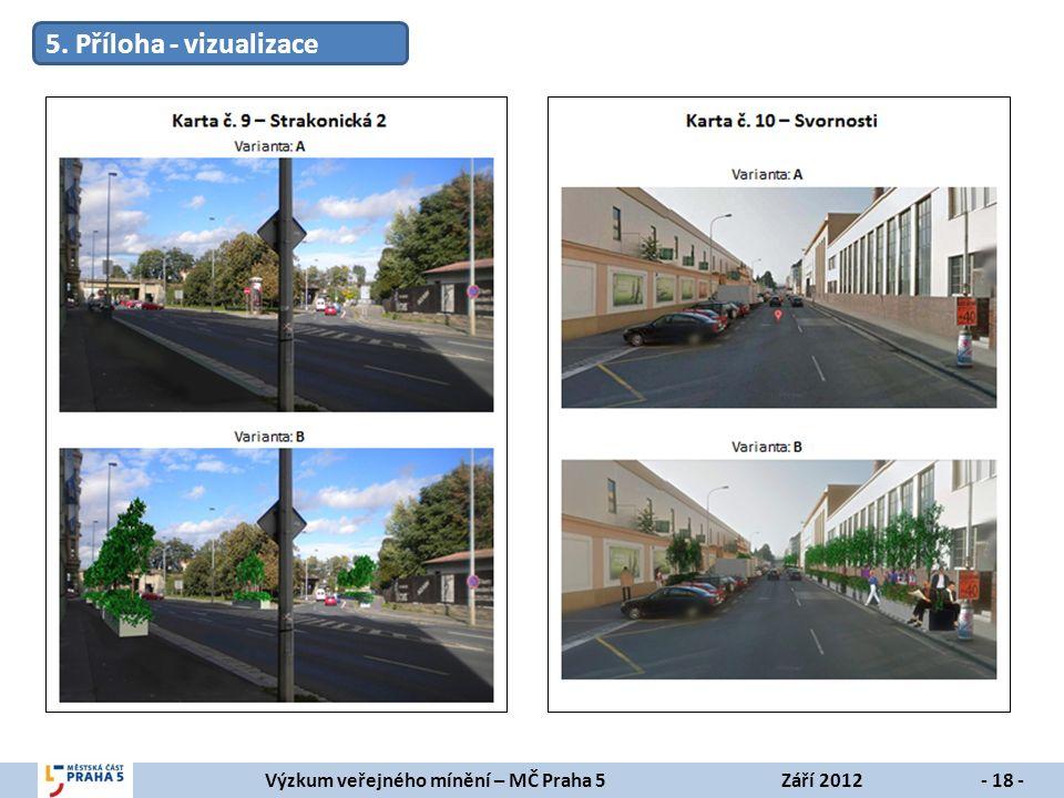 Výzkum veřejného mínění – MČ Praha 5Září 2012- 18 - 5. Příloha - vizualizace