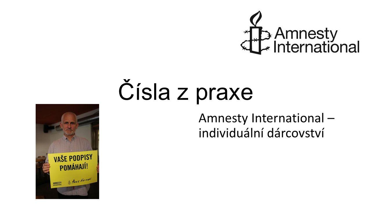 Čísla z praxe Amnesty International – individuální dárcovství