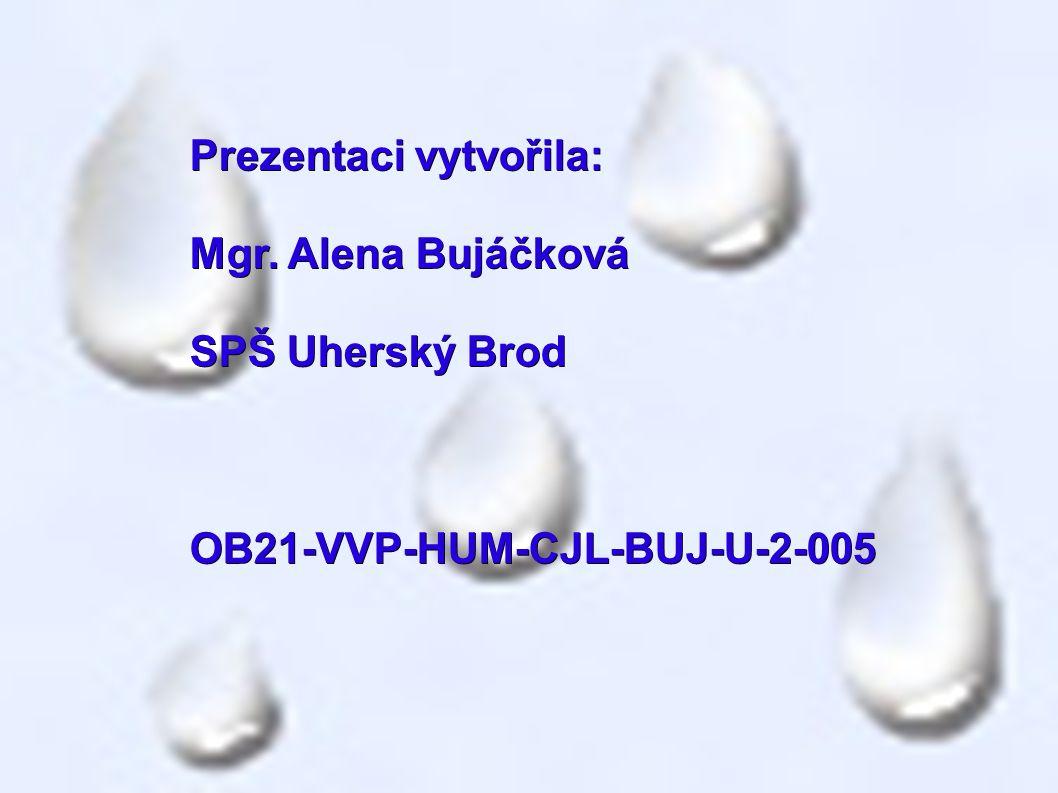 Prezentaci vytvořila: Mgr. Alena Bujáčková SPŠ Uherský Brod OB21-VVP-HUM-CJL-BUJ-U-2-005