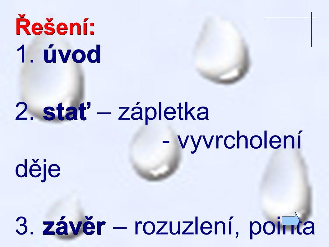 Příklad: Setmělo se. Blesk. Rána. Jedna za druhou. Začalo pršet.