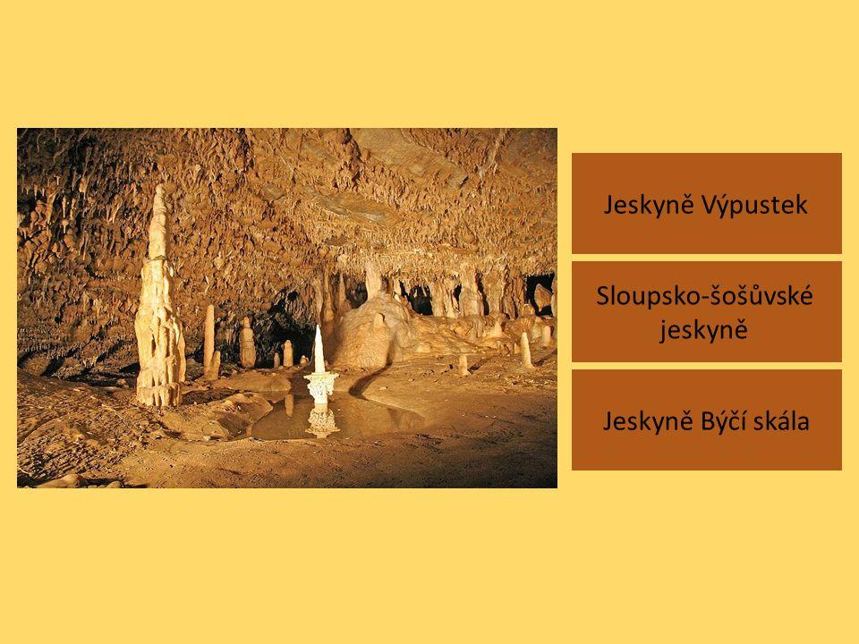 Jeskyně Výpustek Jeskyně Býčí skála Sloupsko-šošůvské jeskyně