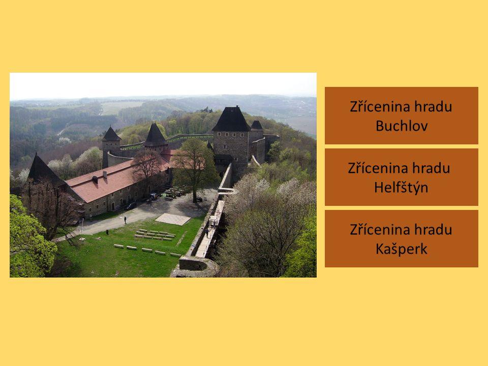 Zřícenina hradu Buchlov Zřícenina hradu Kašperk Zřícenina hradu Helfštýn