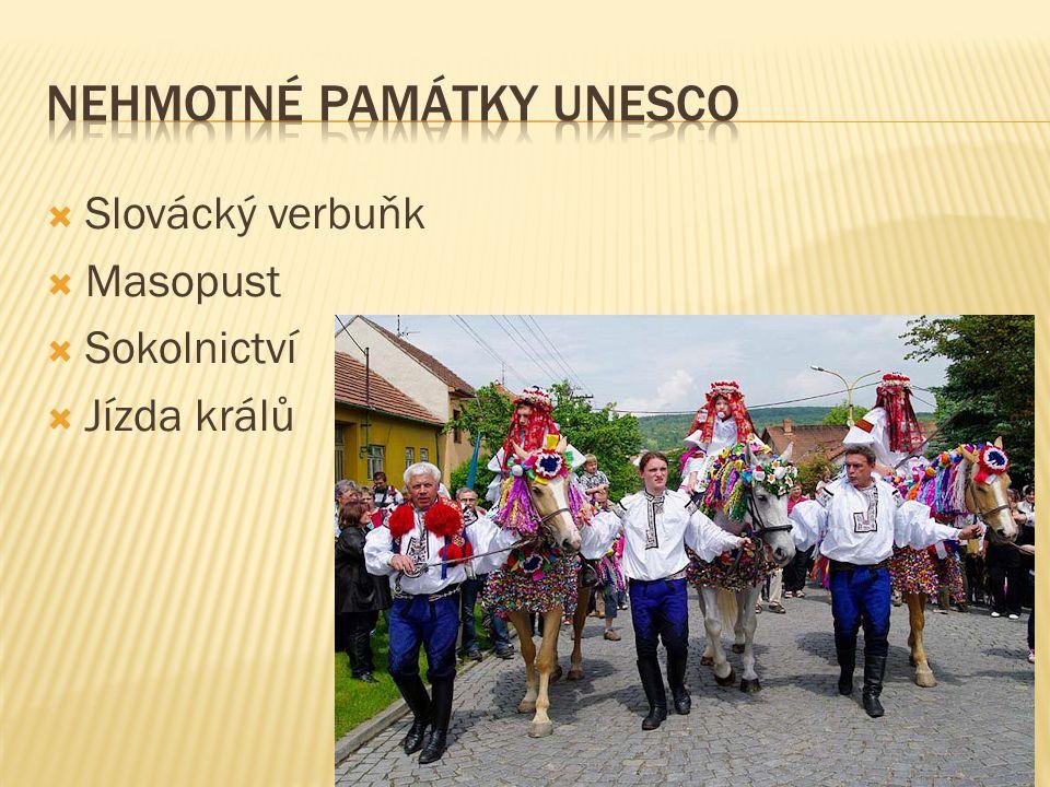 Slovácký verbuňk  Masopust  Sokolnictví  Jízda králů