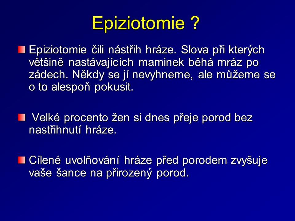 Epiziotomie . Epiziotomie čili nástřih hráze.