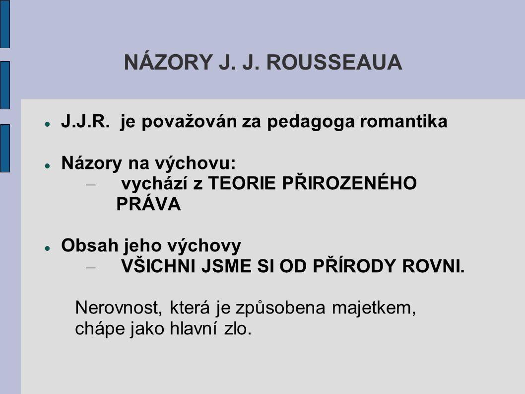 NÁZORY J. J. ROUSSEAUA J.J.R.
