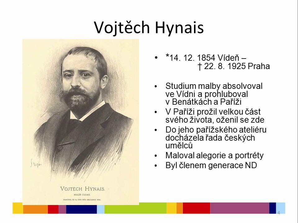 4 Vojtěch Hynais * 14. 12. 1854 Vídeň – † 22. 8.