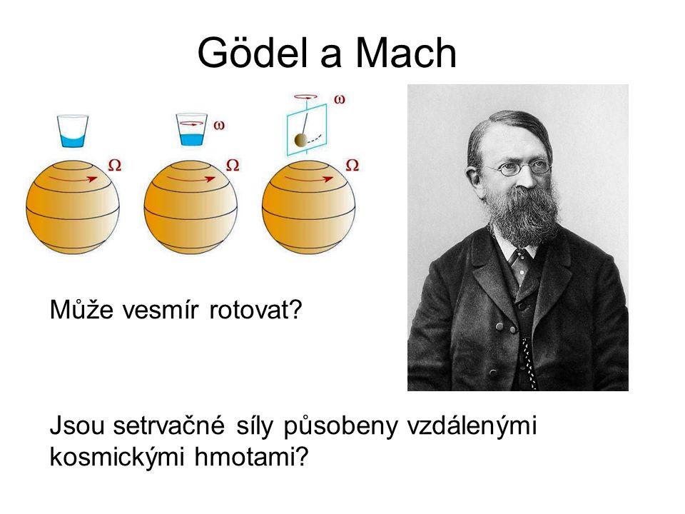 Gödel a Mach Může vesmír rotovat? Jsou setrvačné síly působeny vzdálenými kosmickými hmotami?