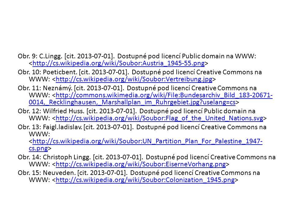 Obr. 9: C.Lingg. [cit. 2013-07-01]. Dostupné pod licencí Public domain na WWW: http://cs.wikipedia.org/wiki/Soubor:Austria_1945-55.png Obr. 10: Poetic