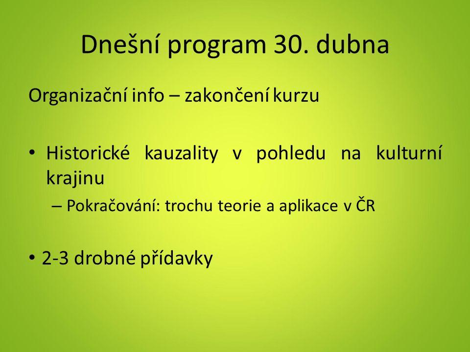 Dnešní program 30.