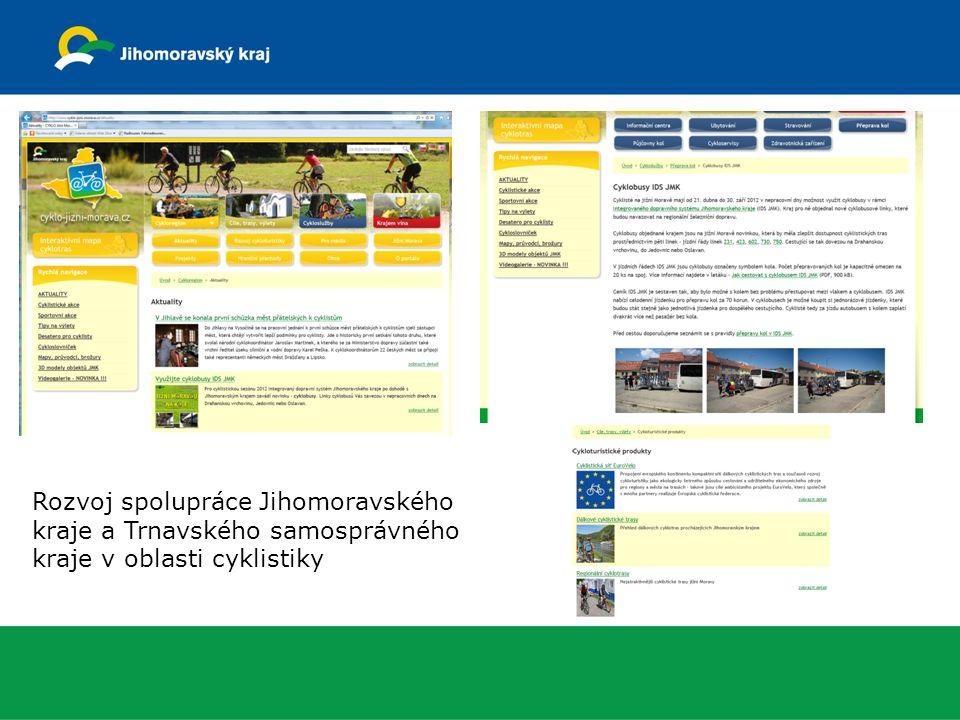 Rozvoj spolupráce Jihomoravského kraje a Trnavského samosprávného kraje v oblasti cyklistiky