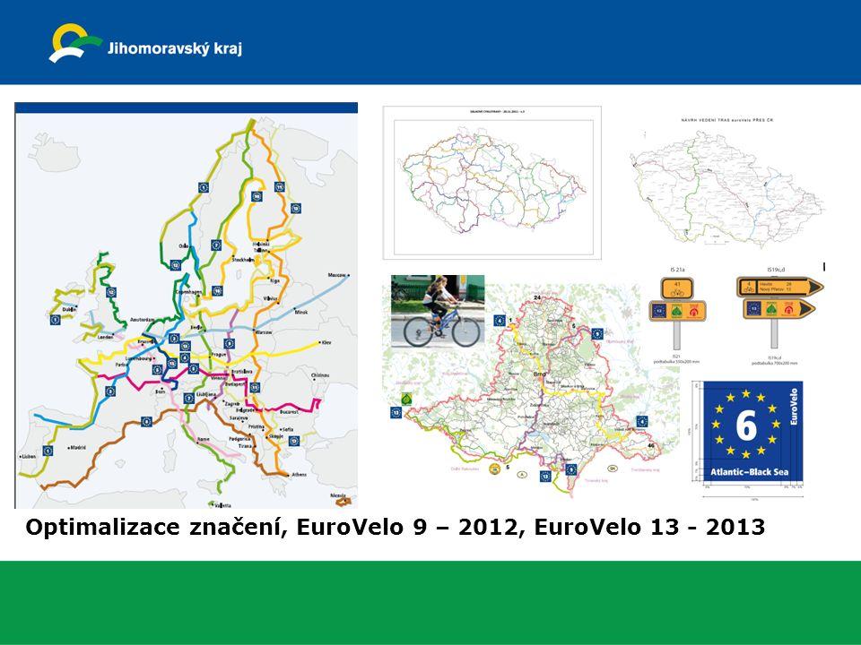 Optimalizace značení, EuroVelo 9 – 2012, EuroVelo 13 - 2013