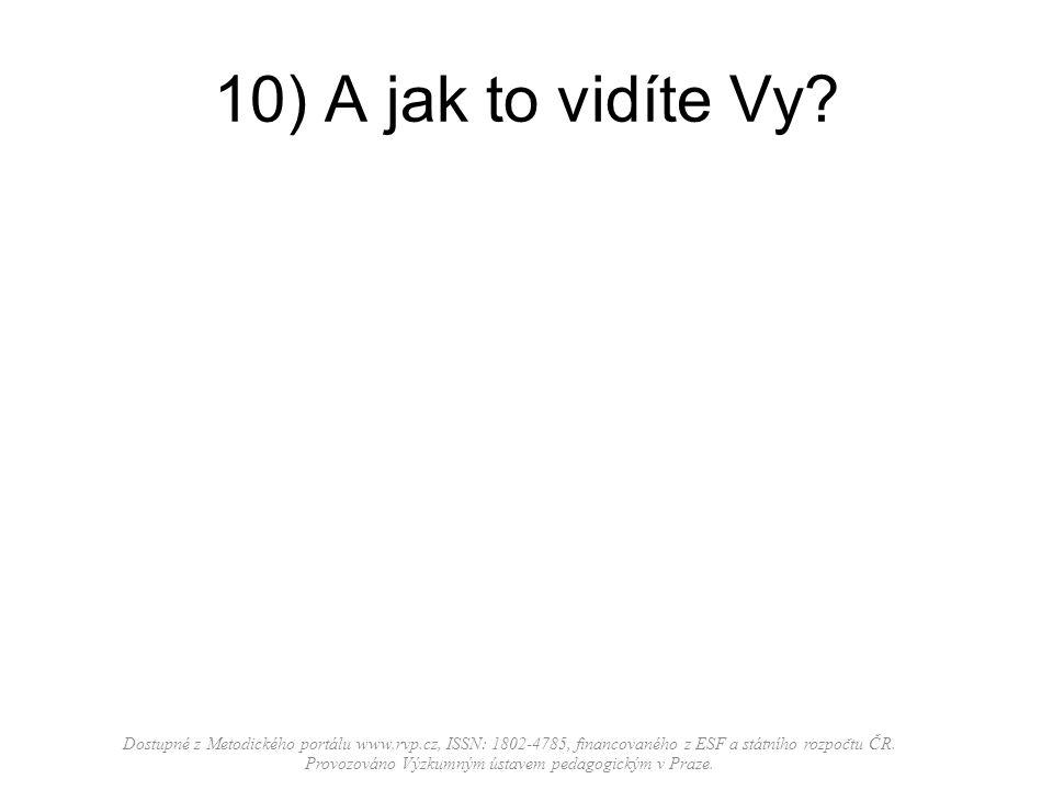 10) A jak to vidíte Vy? Dostupné z Metodického portálu www.rvp.cz, ISSN: 1802-4785, financovaného z ESF a státního rozpočtu ČR. Provozováno Výzkumným