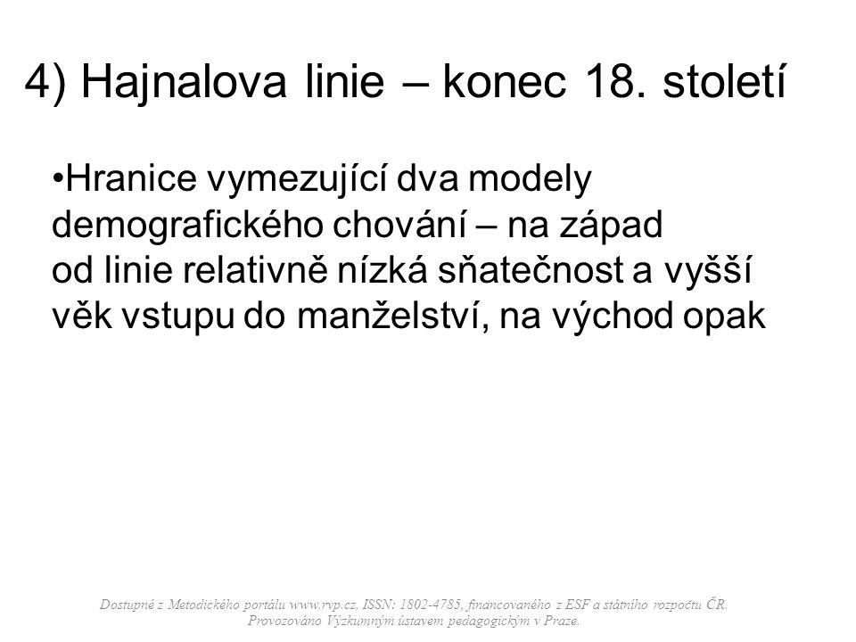4) Hajnalova linie – konec 18.