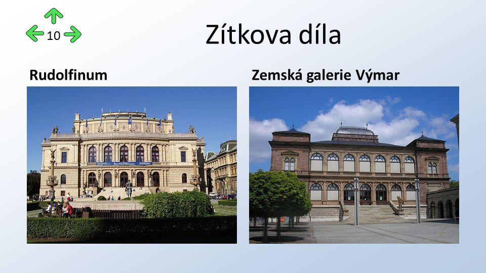 Zítkova díla RudolfinumZemská galerie Výmar 10
