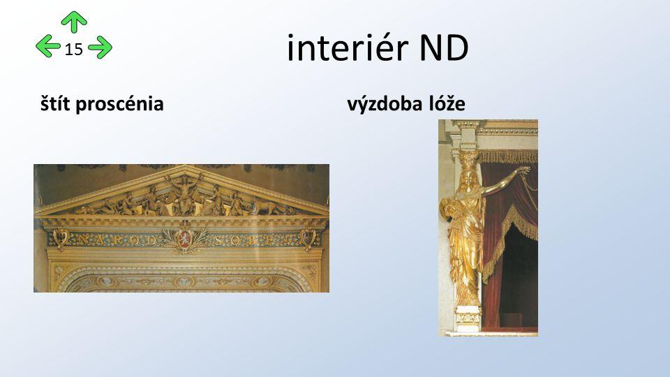 interiér ND štít proscéniavýzdoba lóže 15