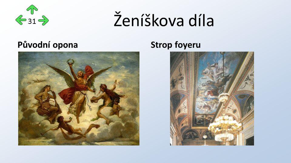 Ženíškova díla Původní oponaStrop foyeru 31