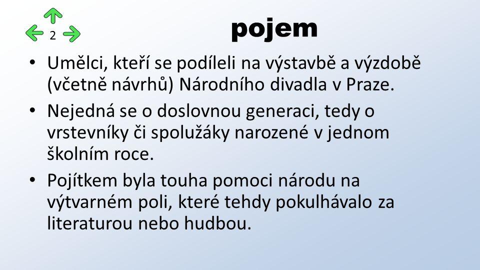 Umělci, kteří se podíleli na výstavbě a výzdobě (včetně návrhů) Národního divadla v Praze.