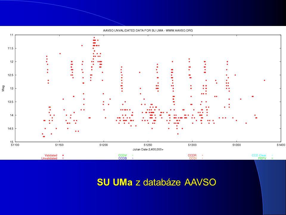 SU UMa z databáze AAVSO