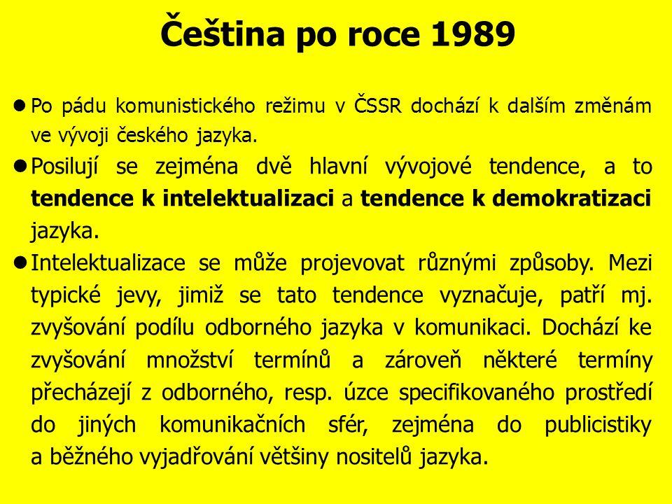 Čeština v letech 1948-1989 Roku 1957 vycházejí nová Pravidla českého pravopisu.