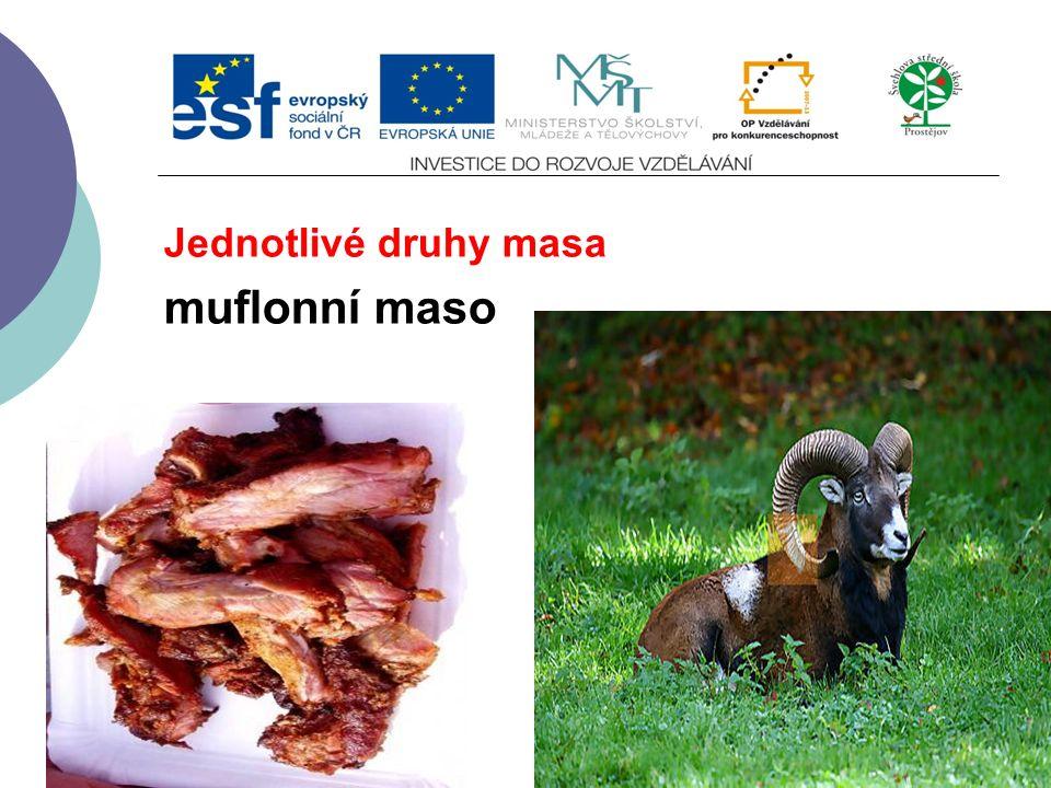 Jednotlivé druhy masa muflonní maso