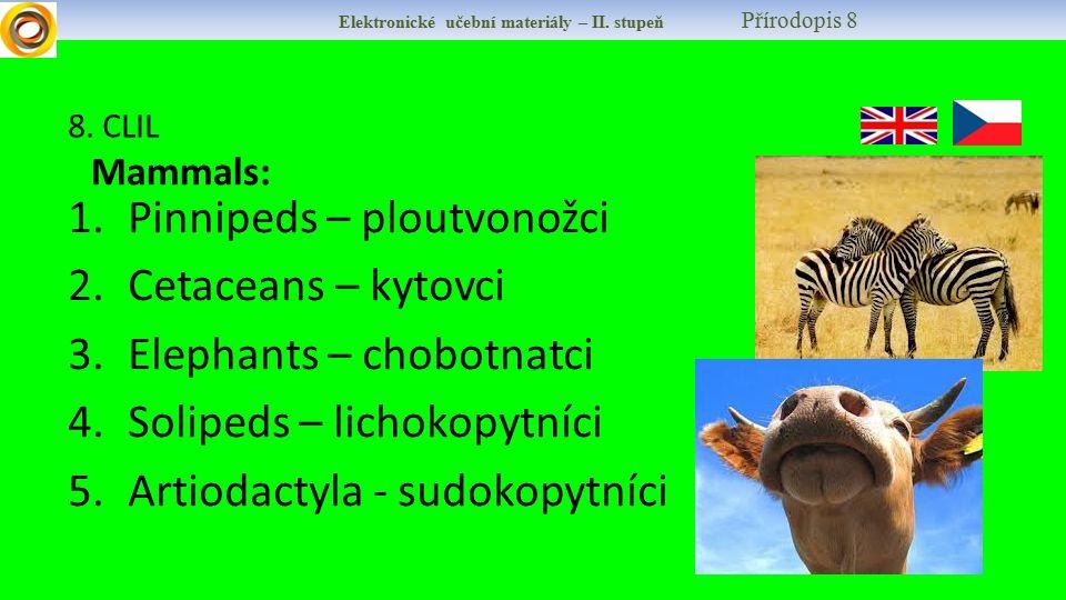 Elektronické učební materiály – II.stupeň Přírodopis 8 9.