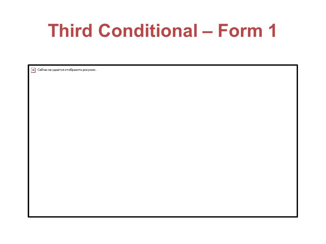 Third Conditional – Form 1