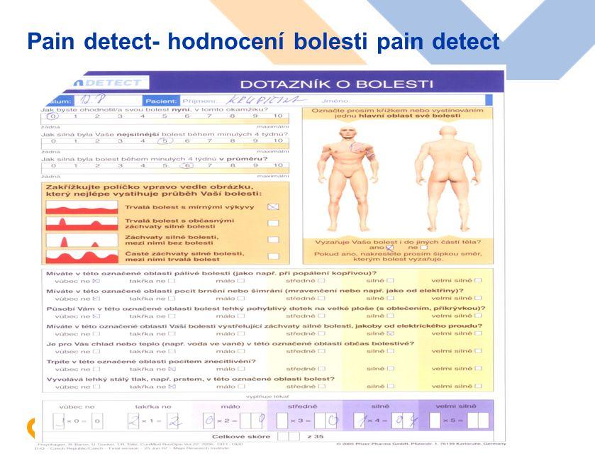 www.karim-vfn.cz Pain detect- hodnocení bolesti pain detect
