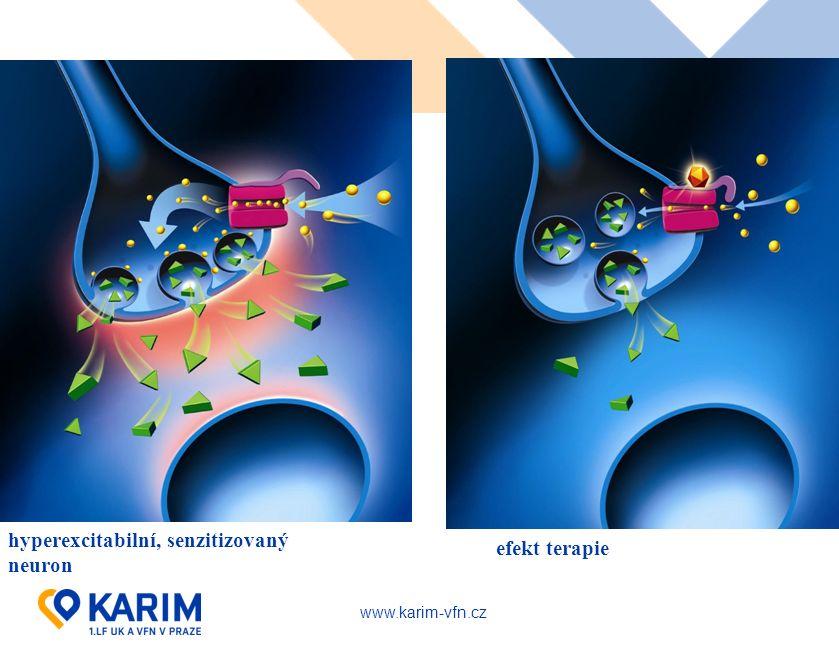 www.karim-vfn.cz hyperexcitabilní, senzitizovaný neuron efekt terapie