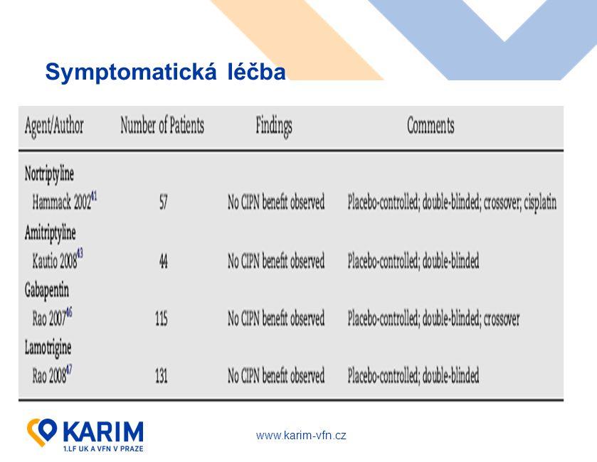 www.karim-vfn.cz Symptomatická léčba