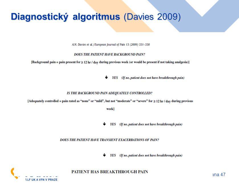 www.karim-vfn.cz Diagnostický algoritmus (Davies 2009) strana 47