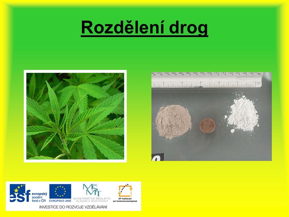Rozdělení drog