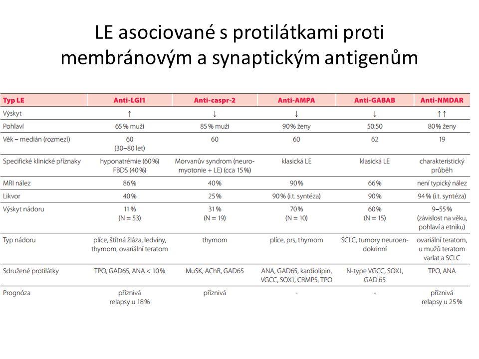 LE asociované s protilátkami proti membránovým a synaptickým antigenům