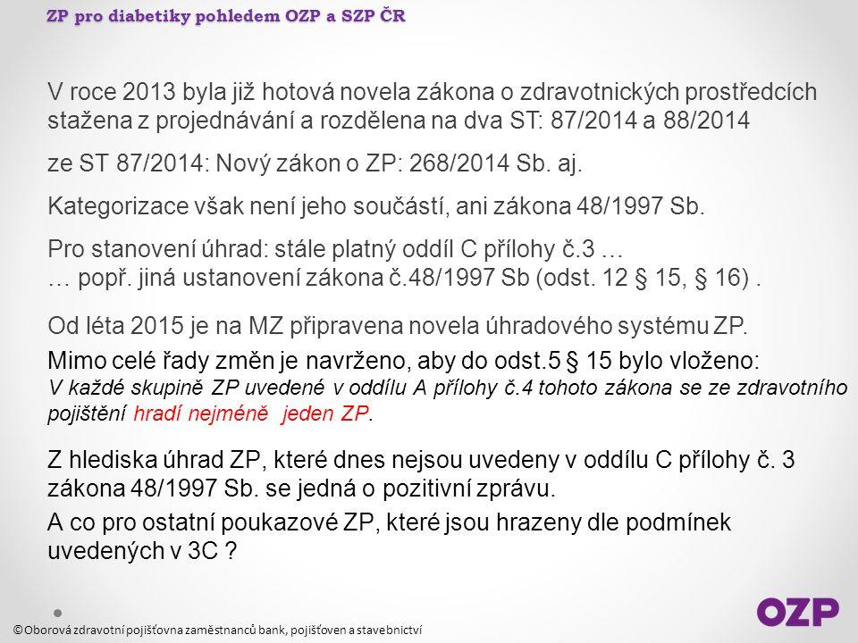 V roce 2013 byla již hotová novela zákona o zdravotnických prostředcích stažena z projednávání a rozdělena na dva ST: 87/2014 a 88/2014 ze ST 87/2014:
