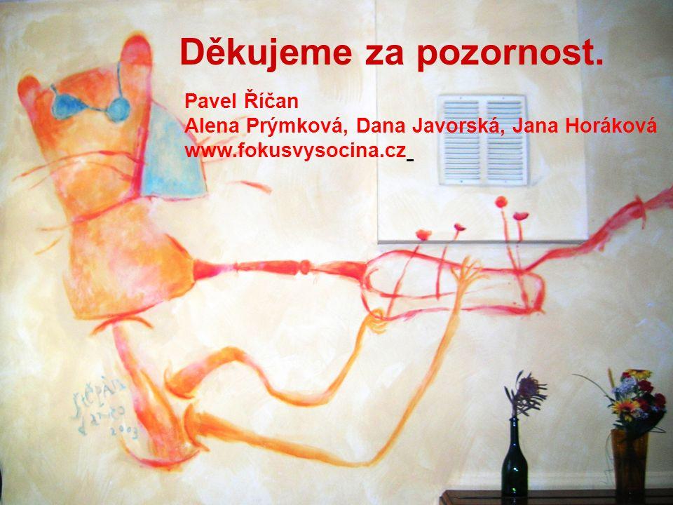 Děkujeme za pozornost. Pavel Říčan Alena Prýmková, Dana Javorská, Jana Horáková www.fokusvysocina.cz