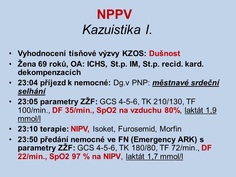 NPPV Kazuistika II.Vyhodnocení tísňové výzvy KZOS: Dušnost !!!!!!!!!.