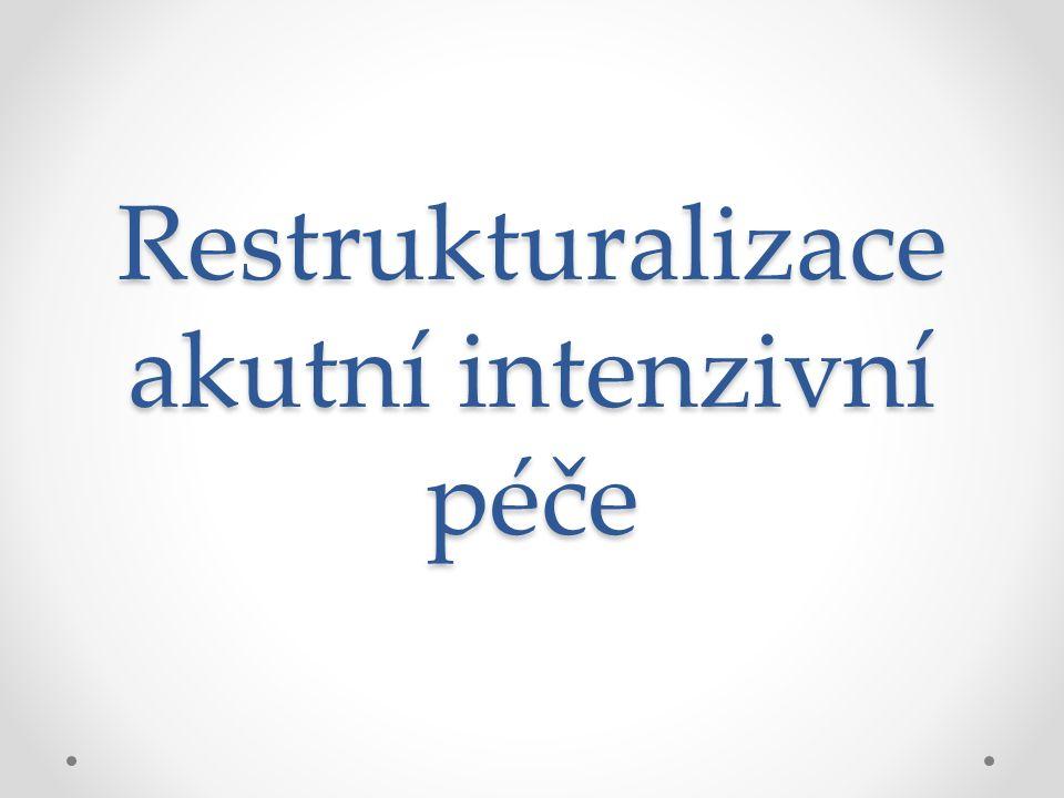 Restrukturalizace akutní intenzivní péče