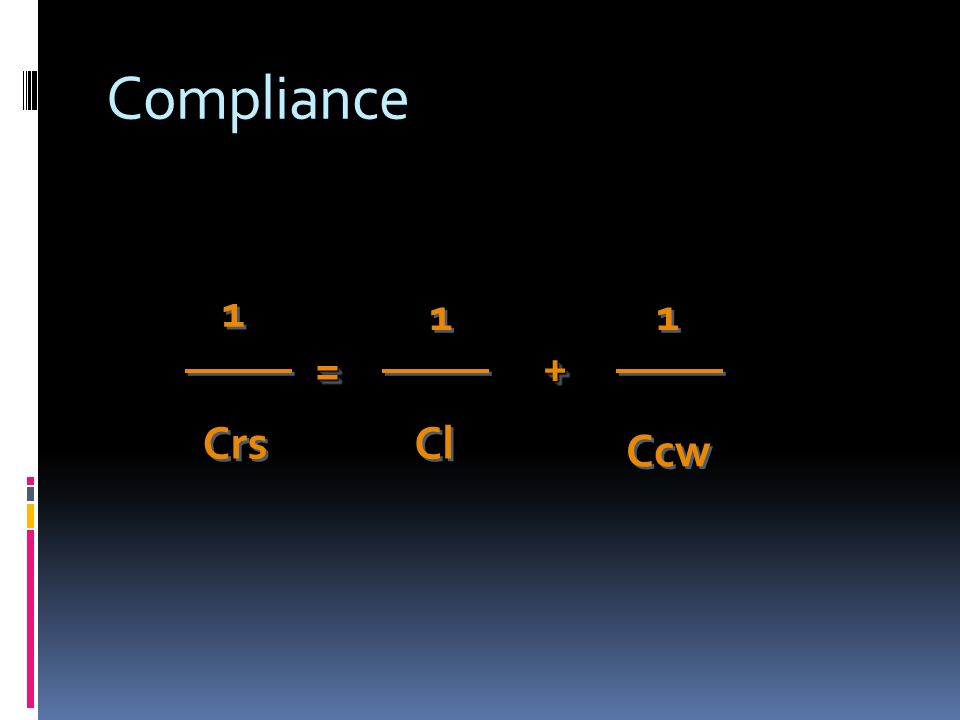 Compliance Ccw == 1 1 Cl 1 1 Crs 1 1 ++