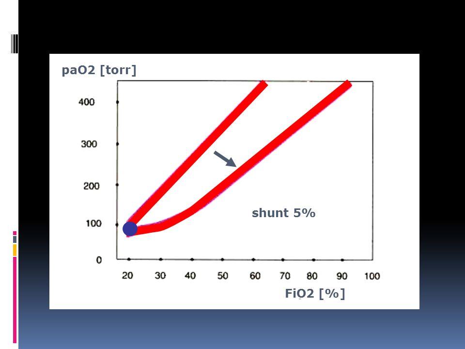 paO2 [torr] FiO2 [%] shunt 5%