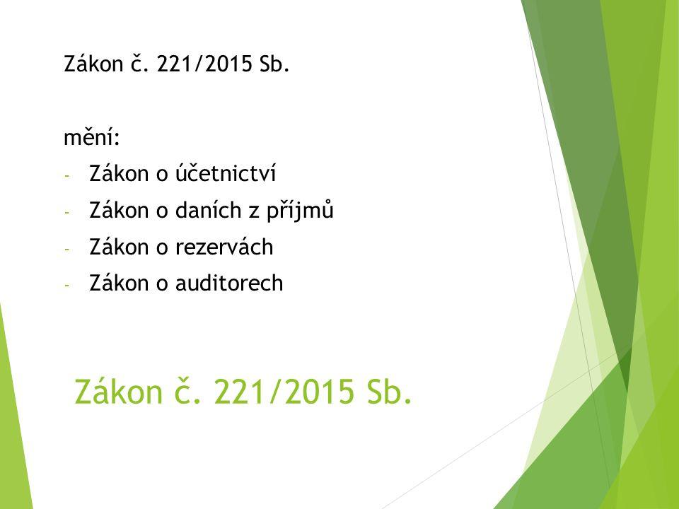 Zákon č. 221/2015 Sb.