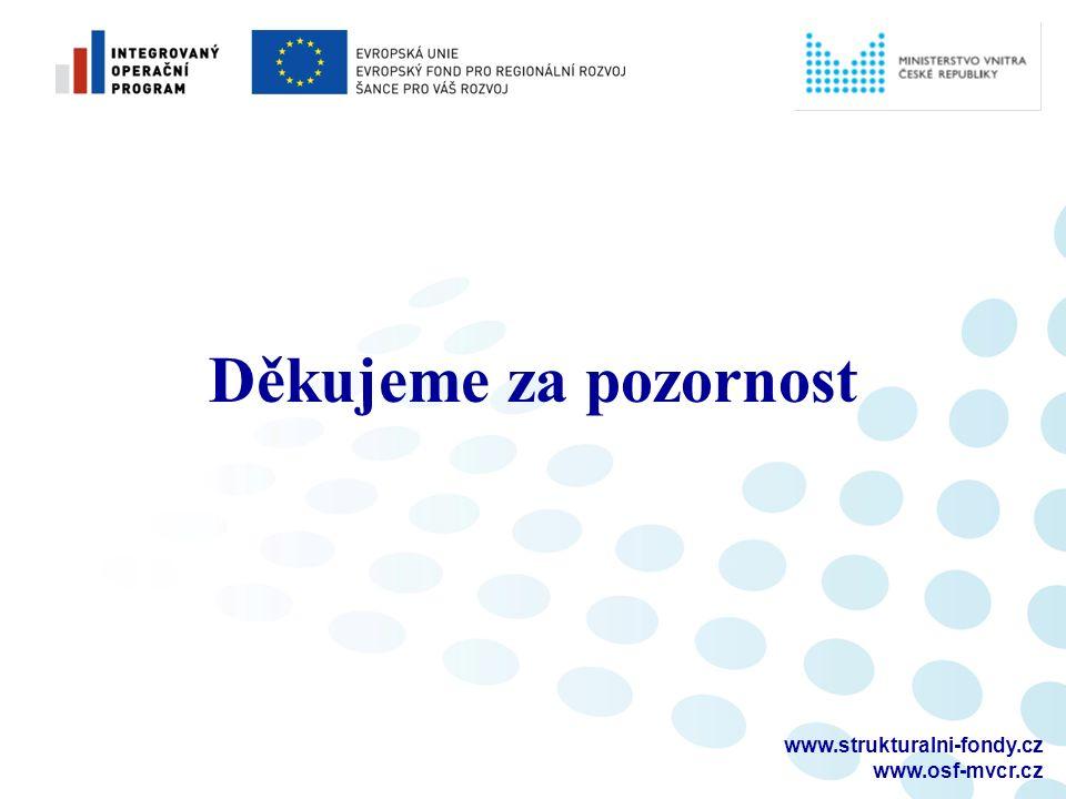 Děkujeme za pozornost www.strukturalni-fondy.cz www.osf-mvcr.cz