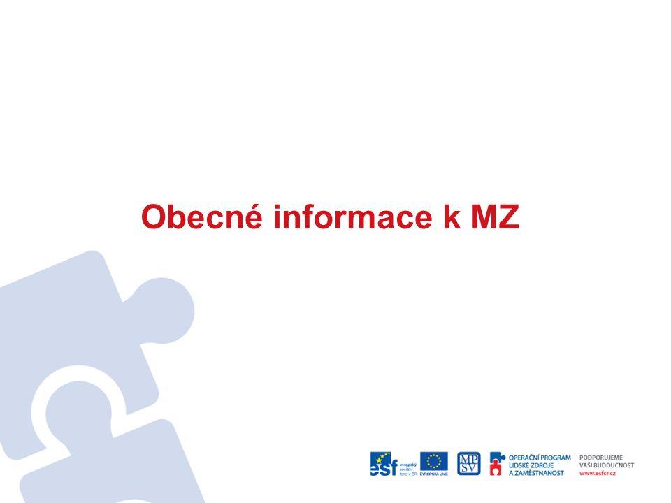 Obecné informace k MZ