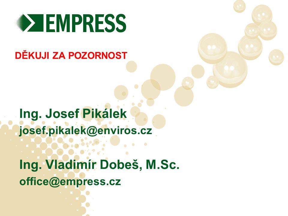 DĚKUJI ZA POZORNOST Ing. Josef Pikálek josef.pikalek@enviros.cz Ing.