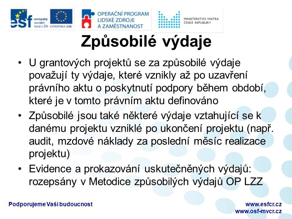 Postup výpočtu PČD Dotace skutečnost -Vyúčtování skutečnost -Soupiska účetních dokladů -Řádek Finančního plánu č.