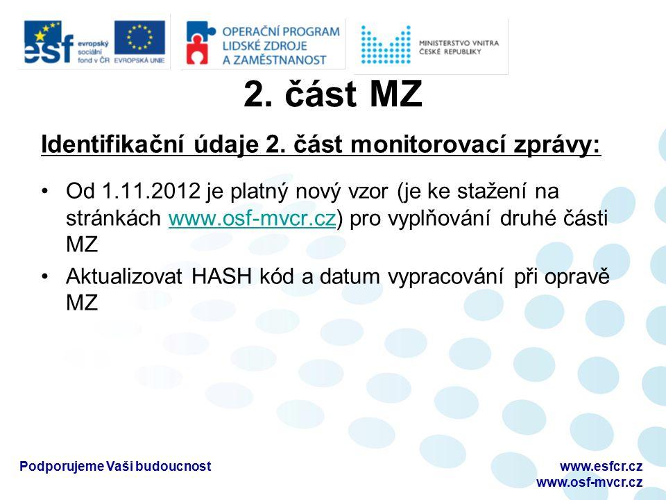 2. část MZ Identifikační údaje 2.
