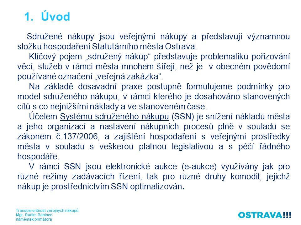 Sdružené nákupy jsou veřejnými nákupy a představují významnou složku hospodaření Statutárního města Ostrava.